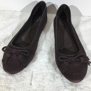 Crocs Brown suede leather flats - 10.5